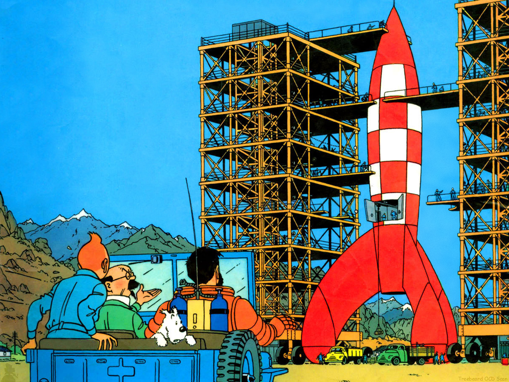 18 new details about Elon Musk's redesigned, moon-bound 'Big F*ing Rocket' tintin
