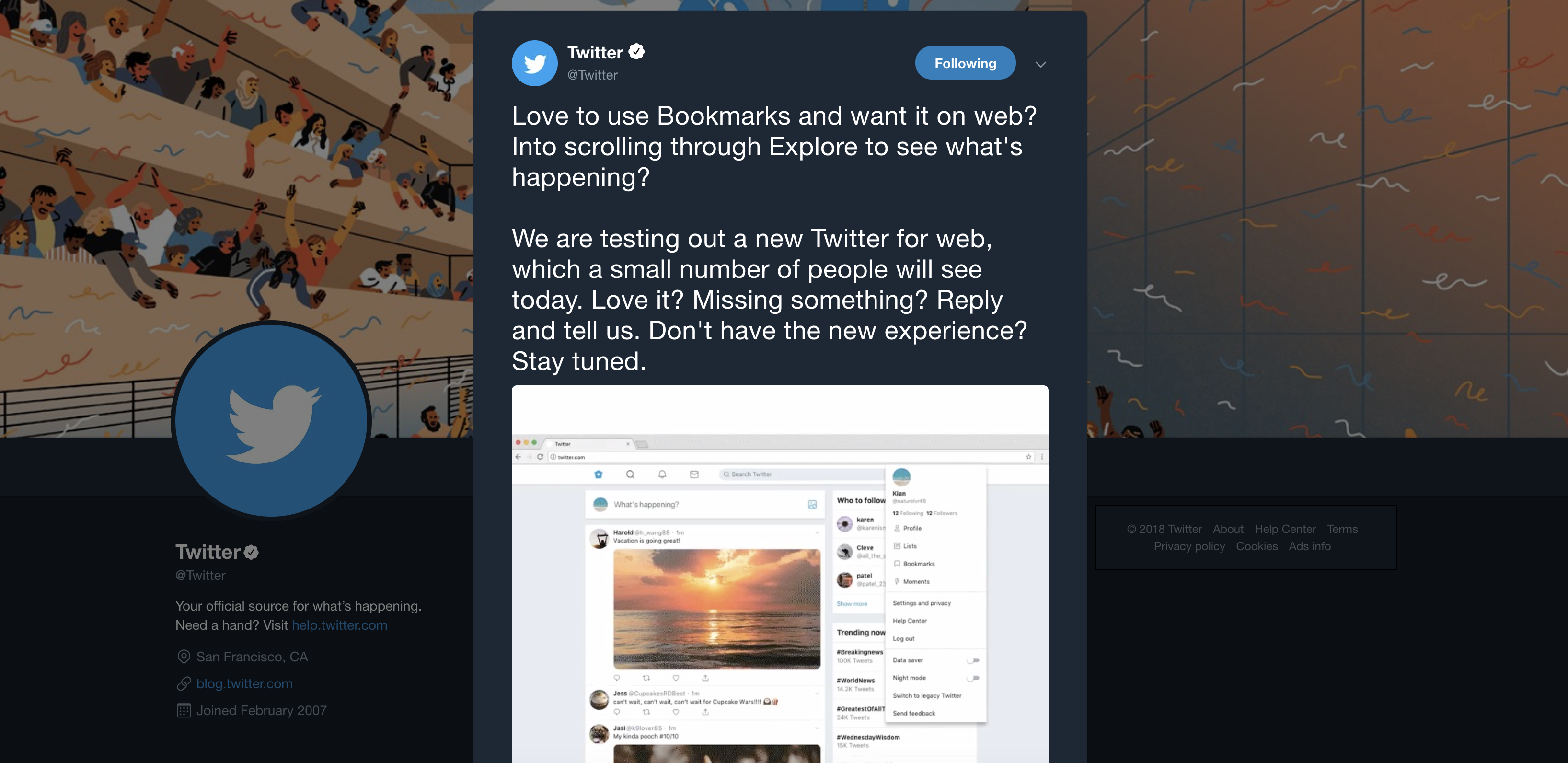 Are you ready for the new Twitter layout?
