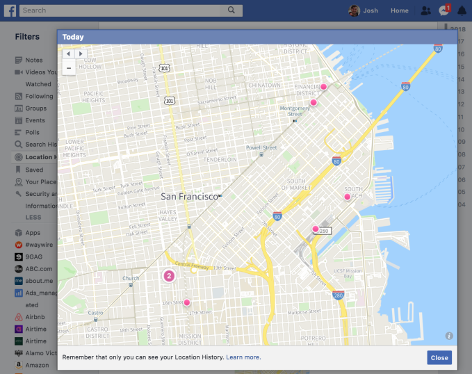 Instagram prototypes handing your location history to Facebook