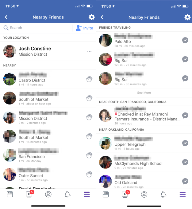 Facebook tests Snap Map-style redesign of Nearby Friends Facebook Nearby Friends List View