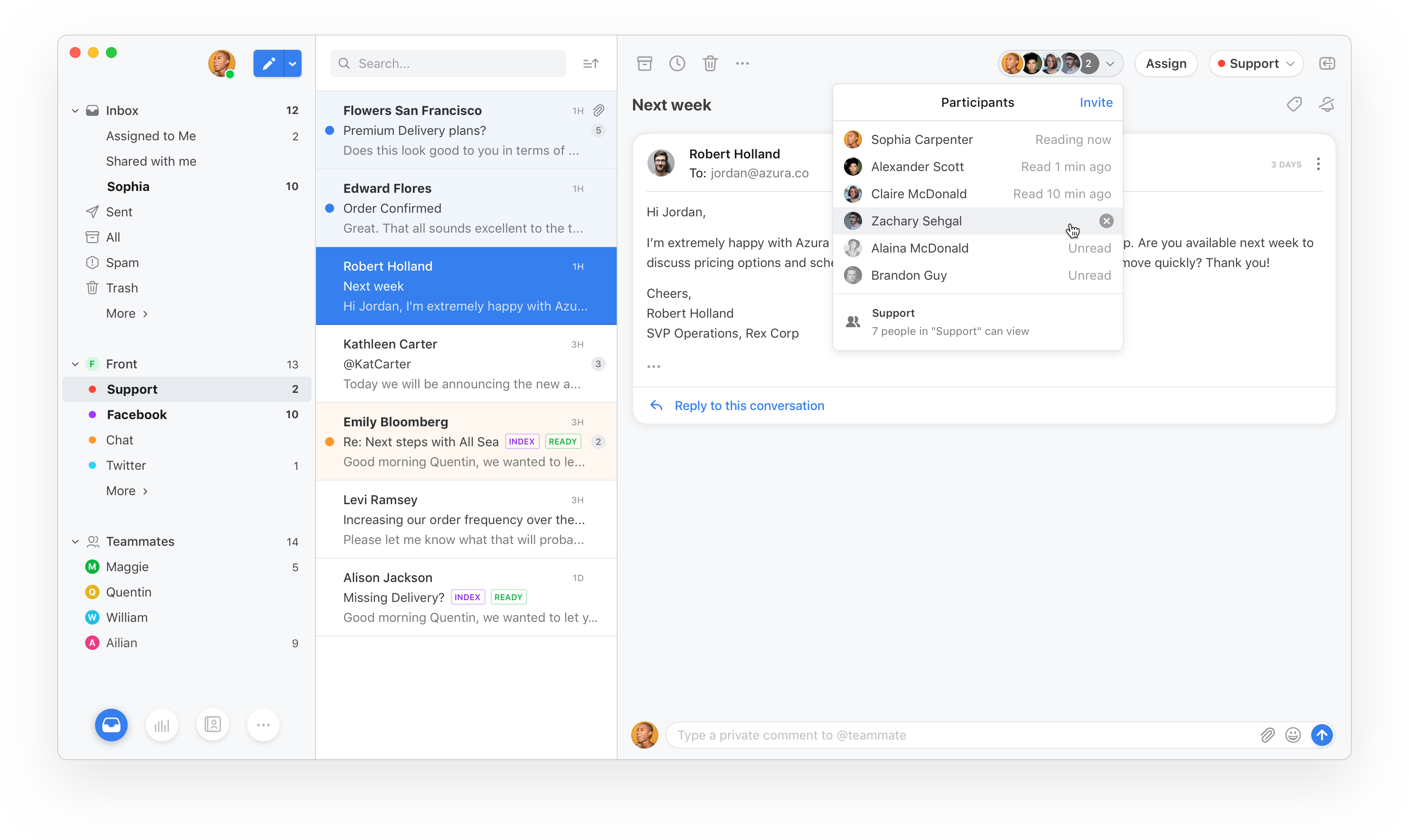 Shared inbox startup Front launches a complete redesign