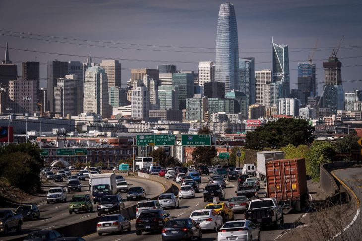 Uber and Lyft are responsible for about half of SF's rise in