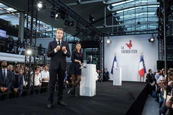 Emmanuel Macron Meets with the French Tech Community