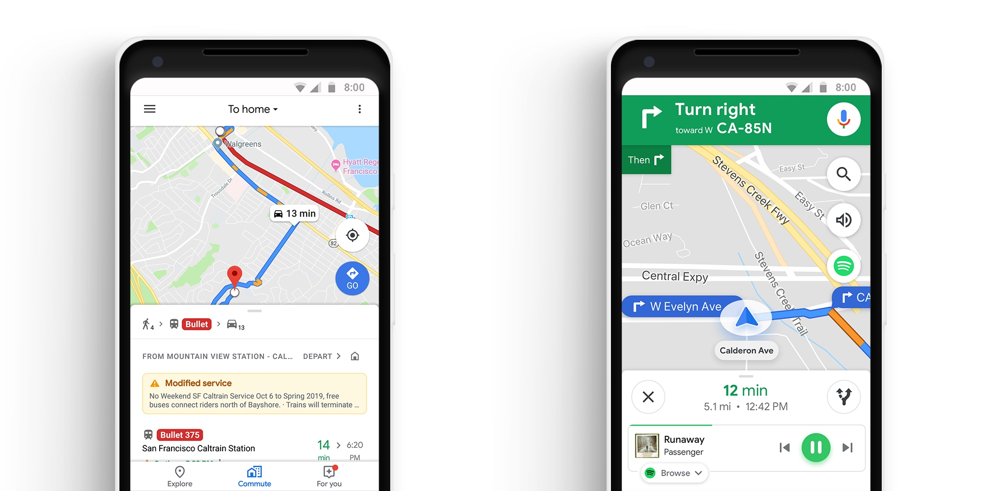 Google Maps adds 'Commute' tab and music controls | TechCrunch on google map art, google docs app, google app icon, google world app, google earth, gasbuddy app, google navigation app, traductor google app, weather app, google texting app, google circles app, google mapquest, google search app, craigslist app, evernote app, google calendar, google map turkey, google map from to, google books app,