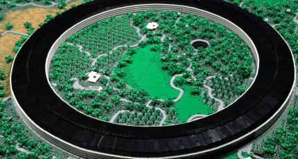 Someone recreated Apple's new campus with 85,000 LEGO bricks