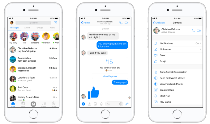 Messenger redesigns to clean up Facebook's mess | TechCrunch