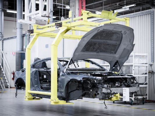 Volvo's Polestar brand is assembling prototypes of its first plug-in hybrid sports car Polestar 1 VP build 003