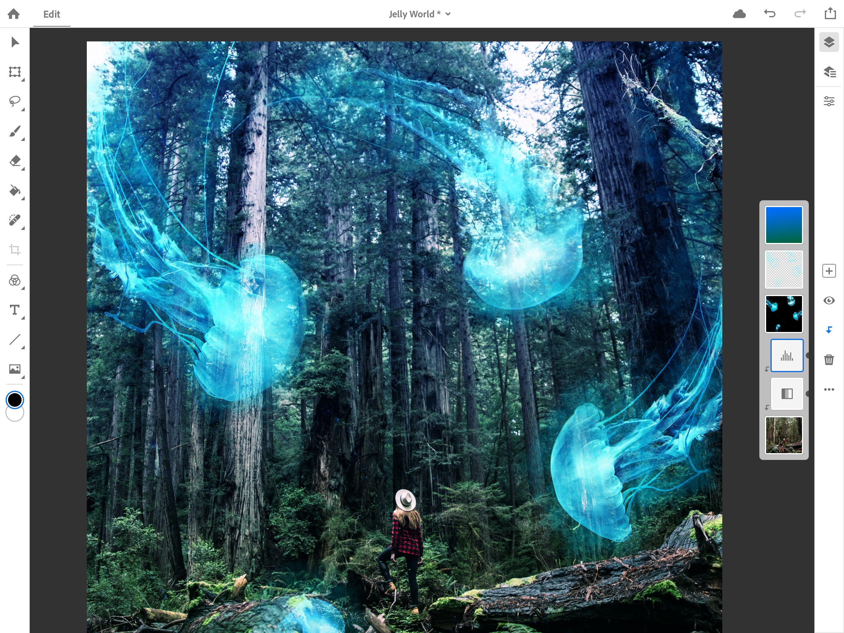 Adobe Is Bringing Photoshop Cc To The Ipad Techcrunch Use adobe photoshop to create your own artwork, edit photos and do much more with the images you take and find. adobe is bringing photoshop cc to the