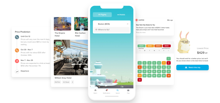 Techmeme: Mobile travel booking app Hopper raises $100M Series D led