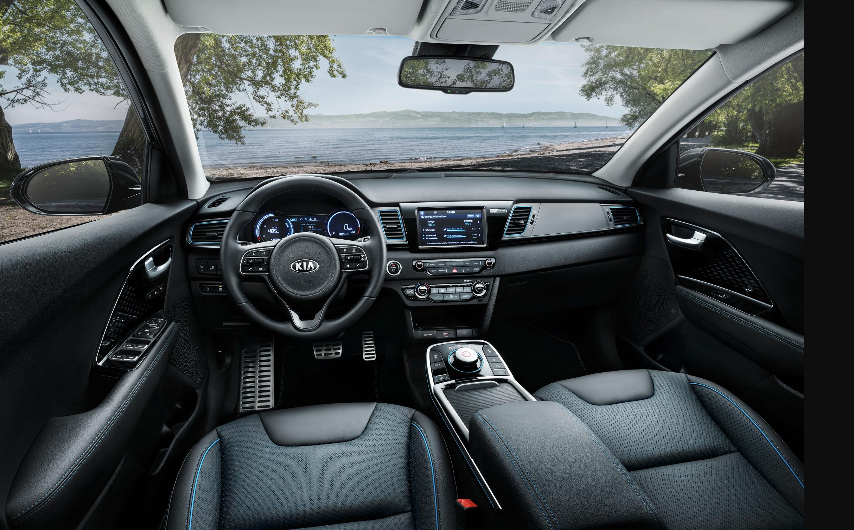 kia e-niro interior paris motor show  Kia's all-electric e-Niro is a crossover with 300 miles of range Screen Shot 2018 10 03 at 3