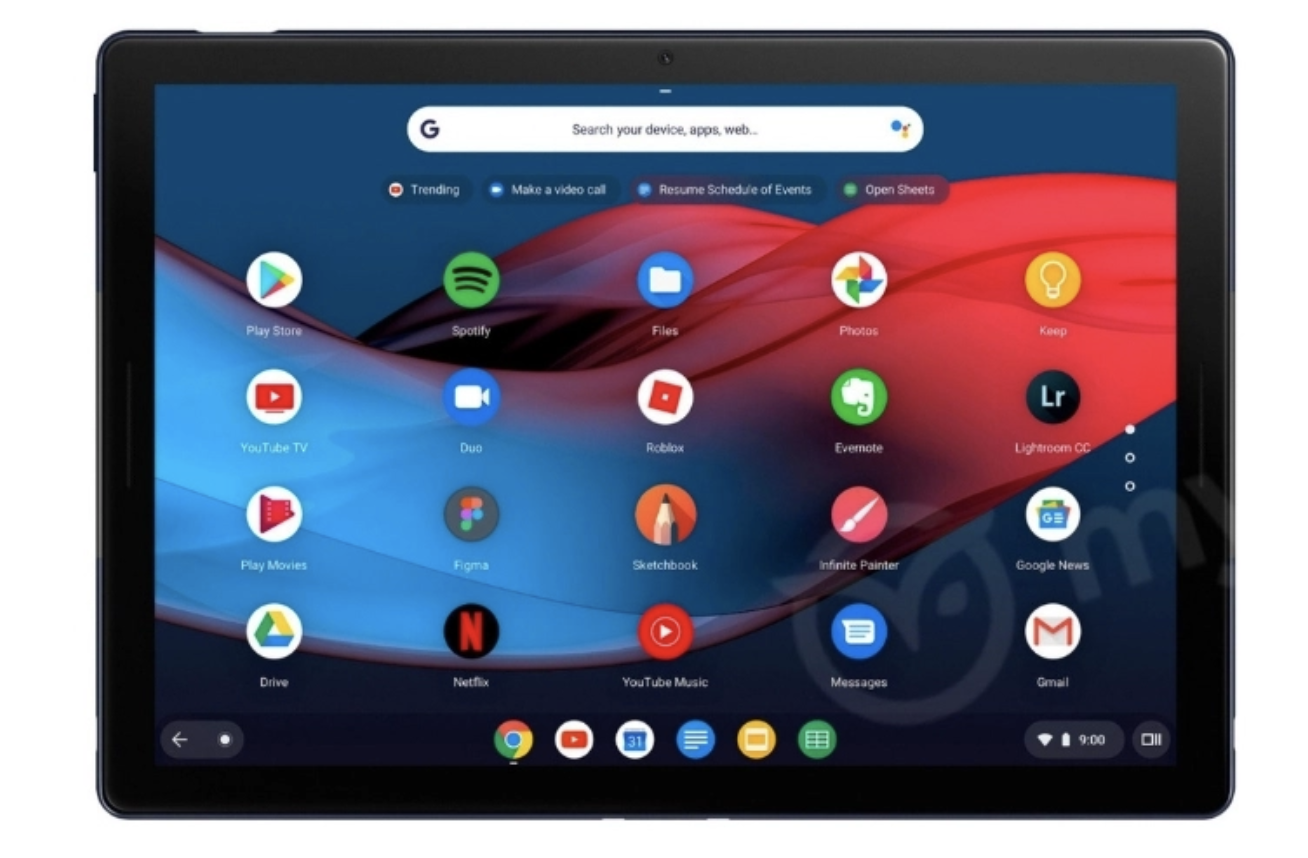 This is the Google Pixel Slate Screen Shot 2018 10 06 at 4