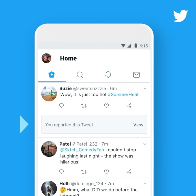 Twitter makes it easier to see enforcement taken on reported