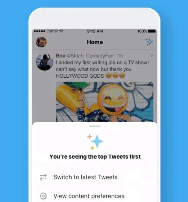 twitter tests homscreen button