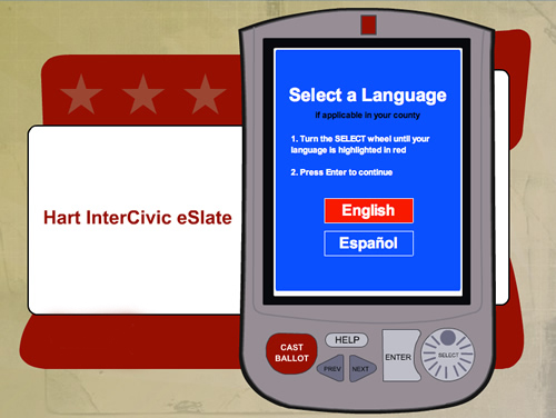 Texas has a long history of problems with Hart eSlate voting machines eSlate1