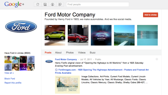 Looking back at Google+ google plus brand page 2011
