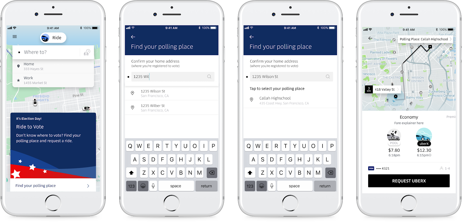 Uber will offer free rides to the polls on Election Day