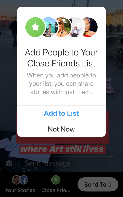 Instagram now lets you share Stories to a Close Friends list