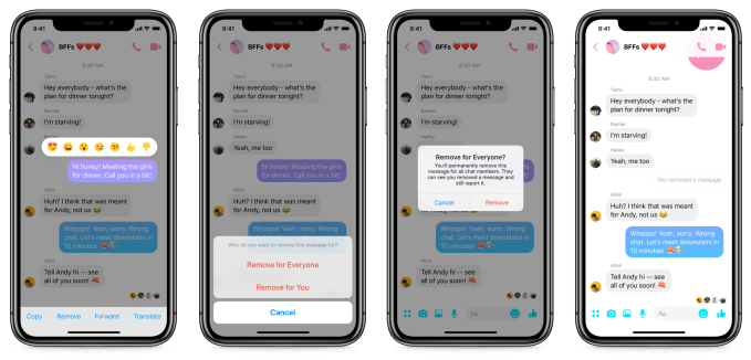 Facebook Messenger starts rolling out Unsend; here's how it works