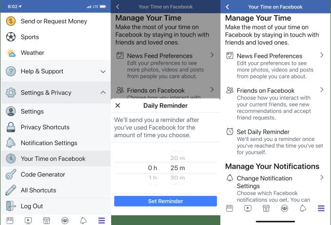 Facebook nos dirá cuánto tiempo dedicamos a la red social 2