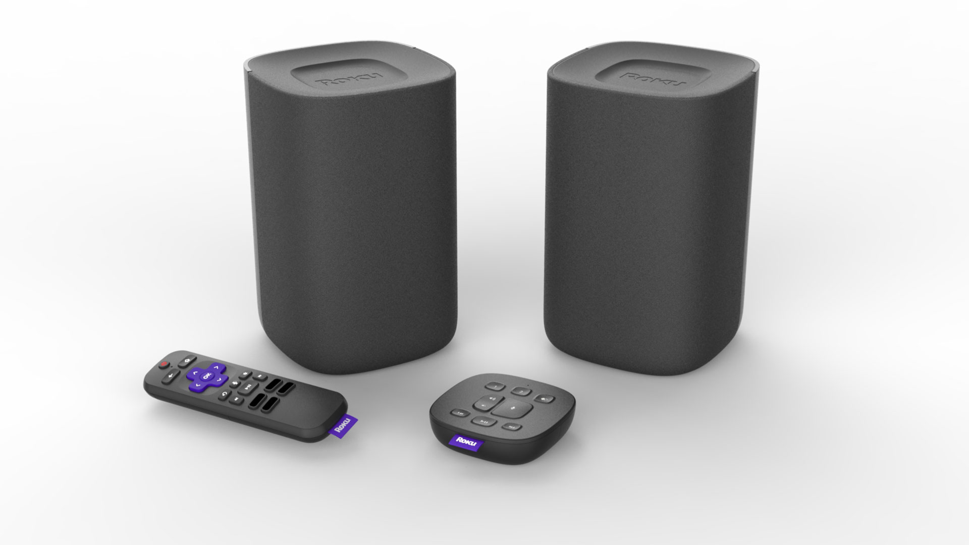 Roku's voice-powered wireless speakers and tabletop remote start