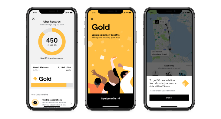 Uber launches rider loyalty Rewards like credits & upgrades