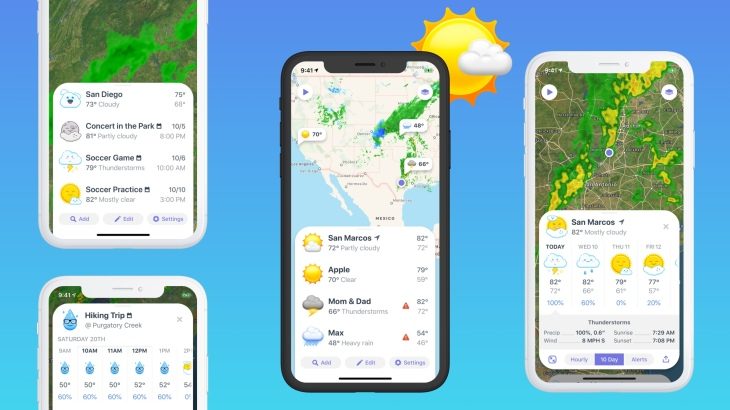 Weather Up's app can give you forecasts for your calendar