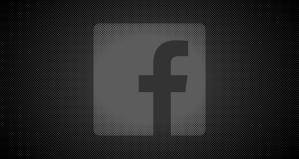 darkened facebook logo