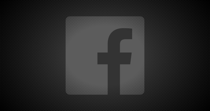 darkened facebook logo