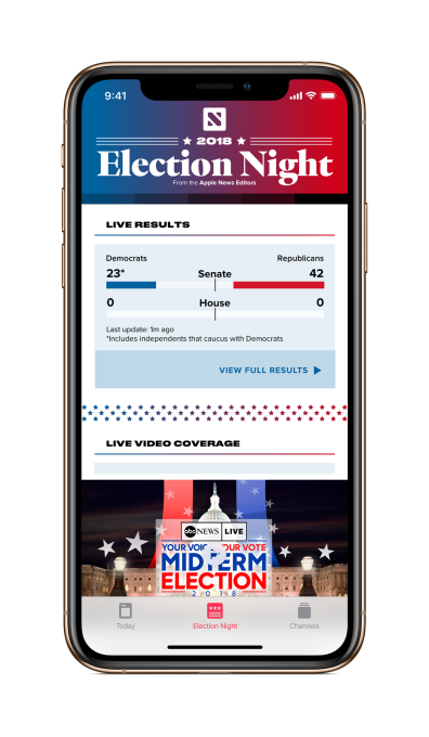 Apple News will launch a real-time election results hub on November