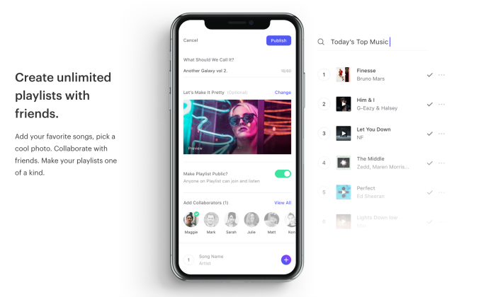 Social music app Playlist lets you listen to music with others in