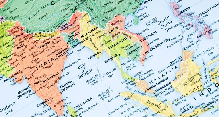 Southeast asia map 4