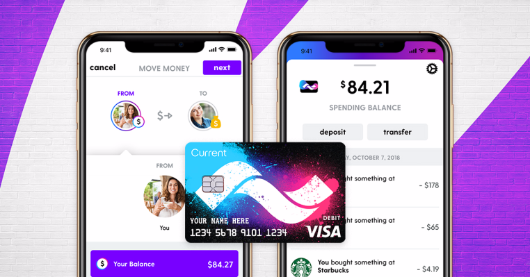 Teen debit card Current now acts like a real bank account