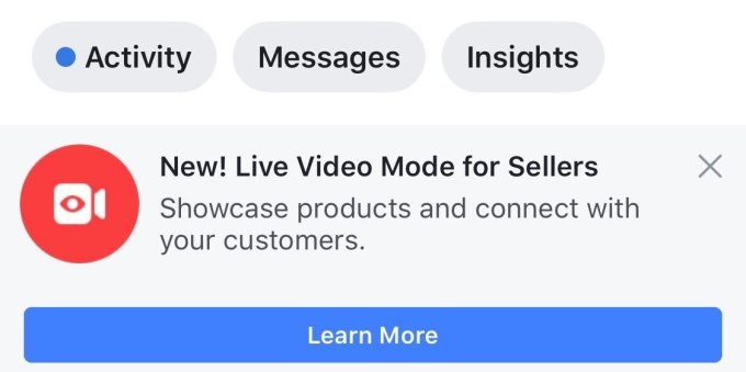 FB QVC? Facebook tries Live video shopping