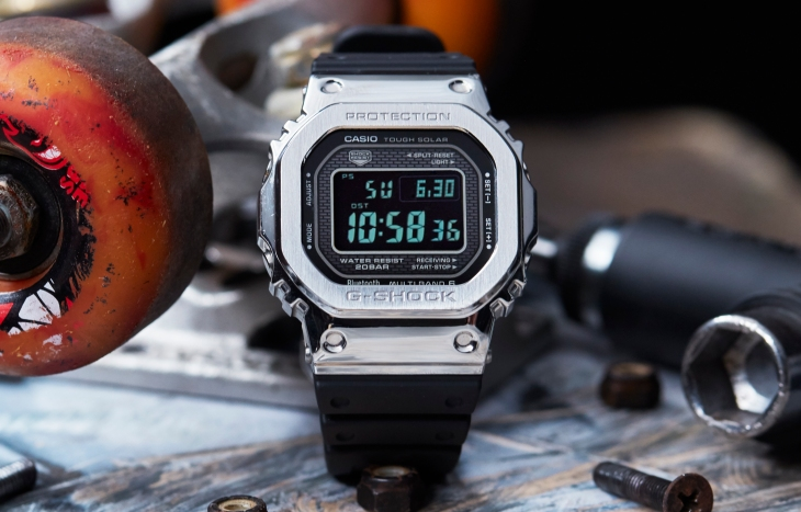 Casio Unveils An All Metal G Shock For Those Who Need Real Steel