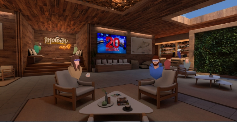 Molotov creates a VR coffee shop to watch TV together