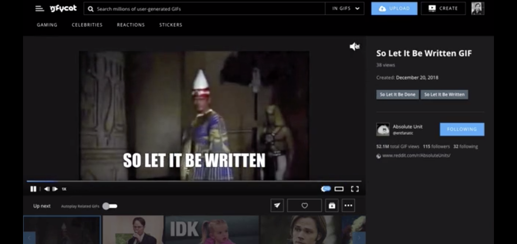 Gfycat's 'GIFs' can now keep the sound on | TechCrunch