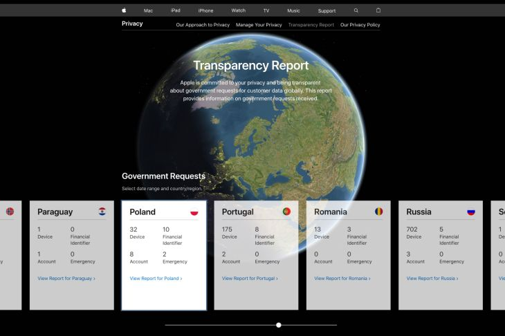 In revamped transparency report, Apple reveals uptick in