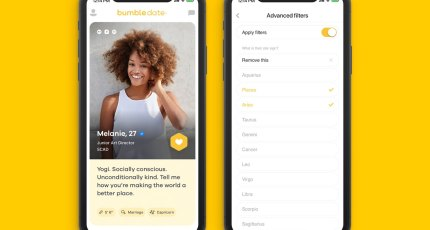 Bumble now lets you filter potential matches on Bumble Date