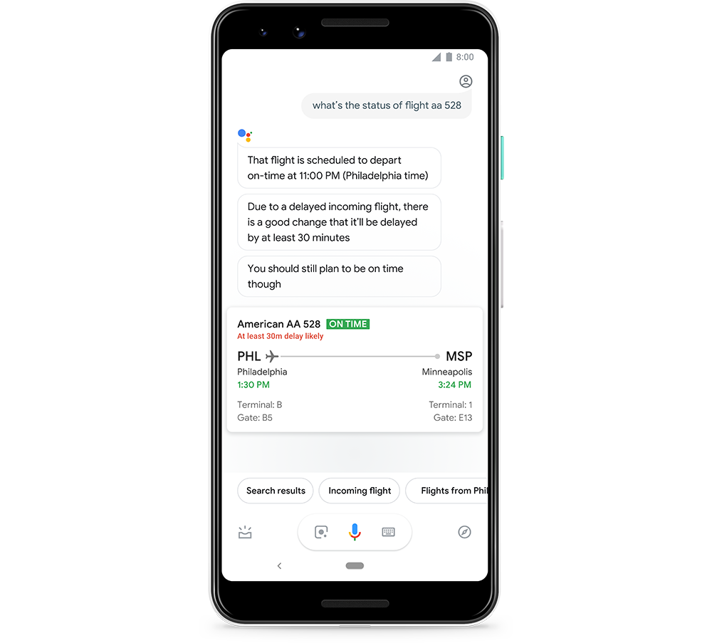 The Google Assistant can now alert you of potential flight delays flight status v2png 1000 Steph R5wbcBO