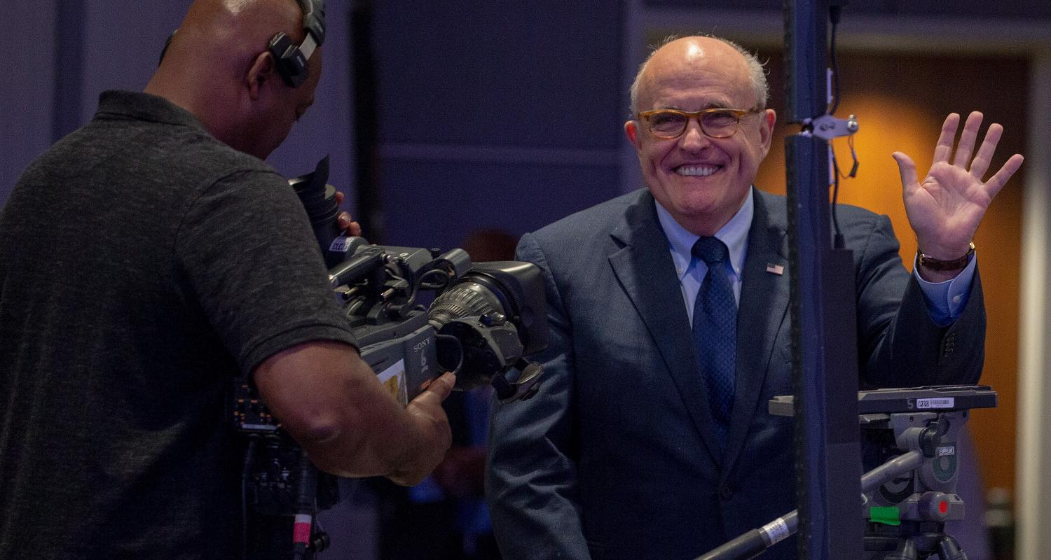 Image result for Rudy Giuliani, a Trump cybersecurity adviser, doesn't understand the internet