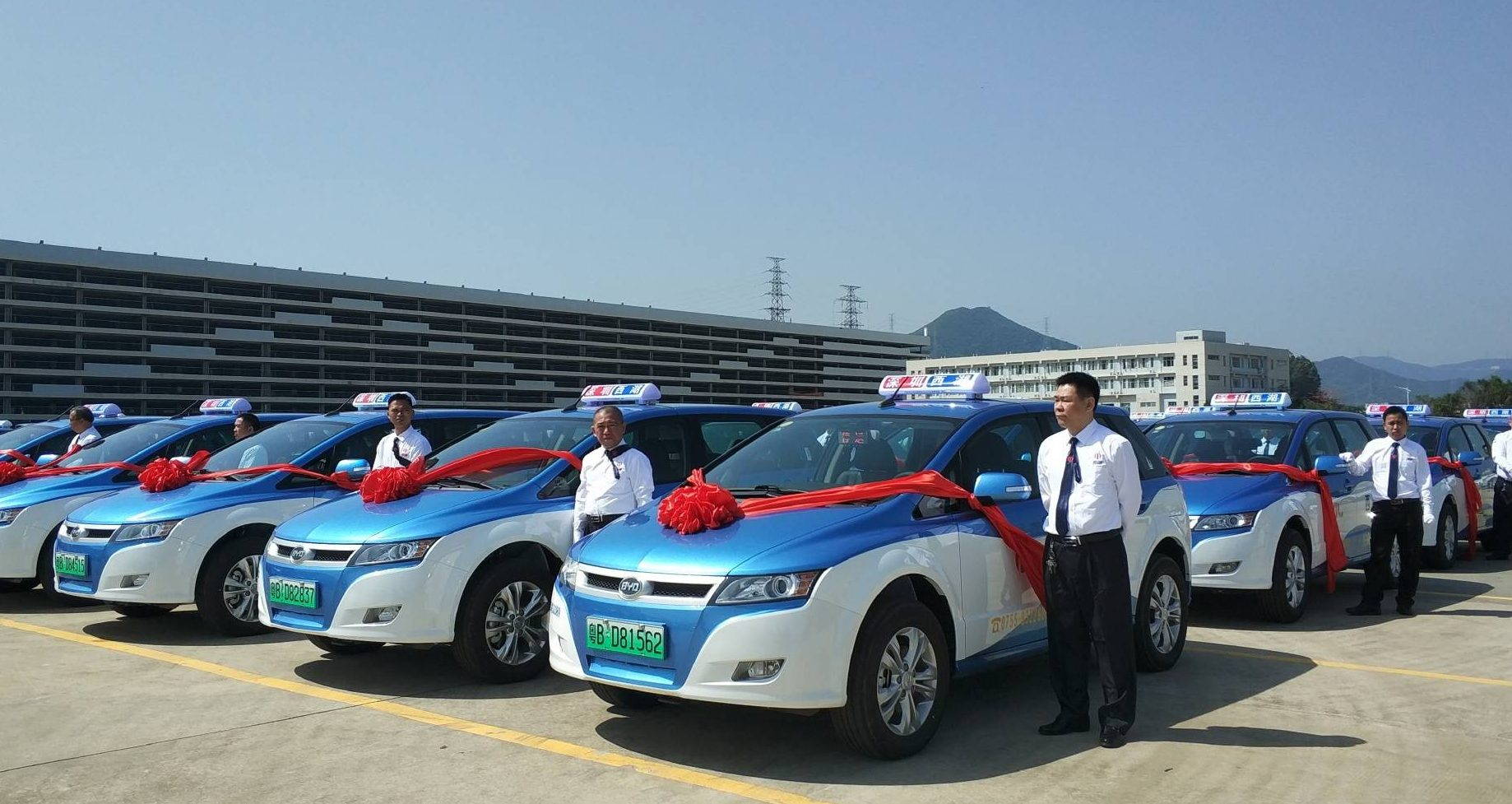 First buses, now Shenzhen has turned its taxis electric in green