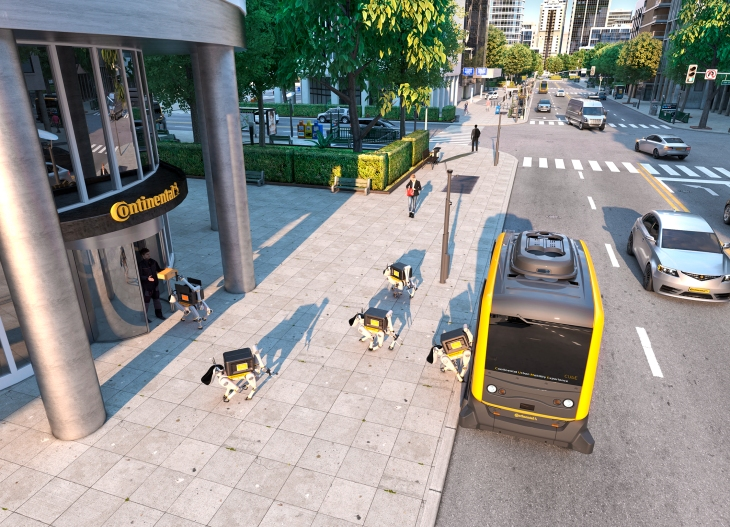 Continental robot delivery dogs