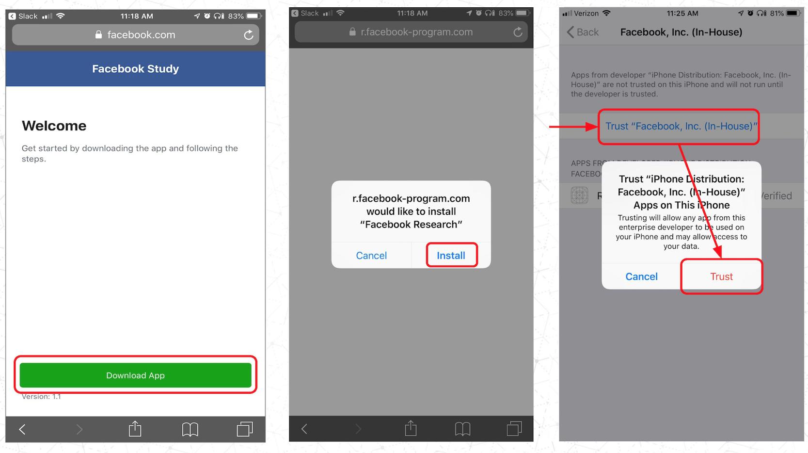 Techmeme: Apple says it revoked Facebook's Enterprise Certificate
