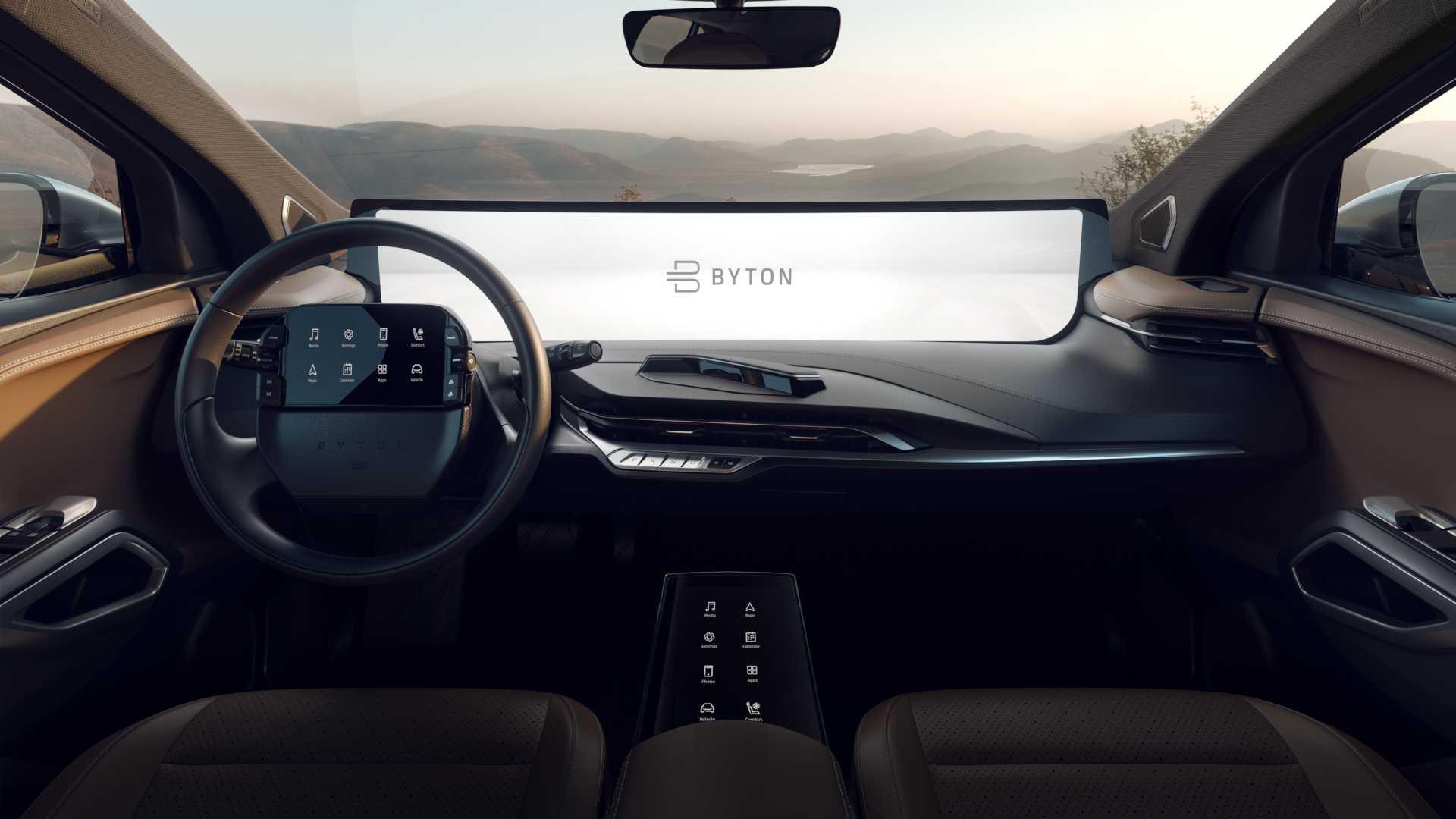 Byton M-Byte interior CES 2019