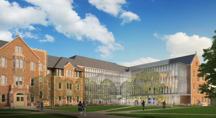 WashU announces donation from Square co-founder to grow engineering school McKelvey courtyard