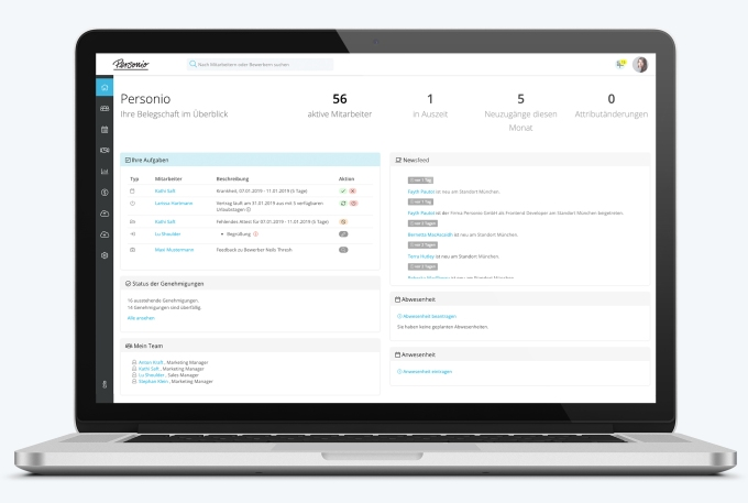 German HR and recruiting platform Personio raises $40M Series B led by Index