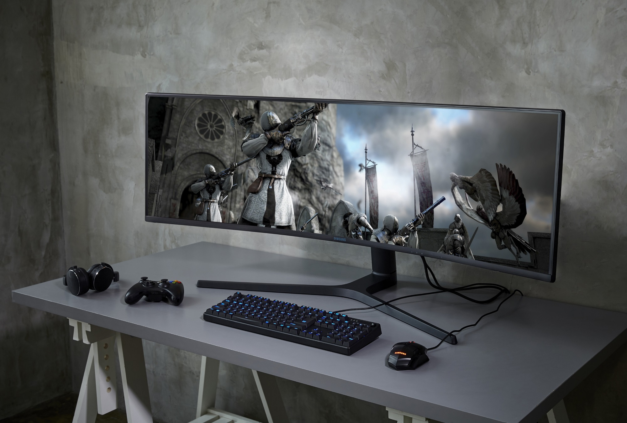 Samsung's Space Monitor is practical and minimal Samsung CRG9 super wide monitor 3