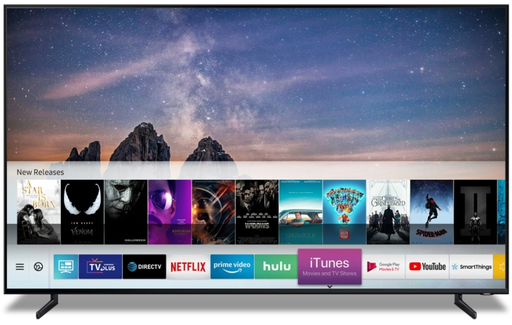 Apple is bringing iTunes content to Samsung's Smart TVs