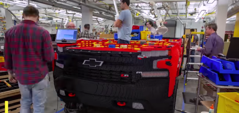 Watch builders construct a life-size Chevy truck with 300,000 LEGO bricks - TechCrunch image