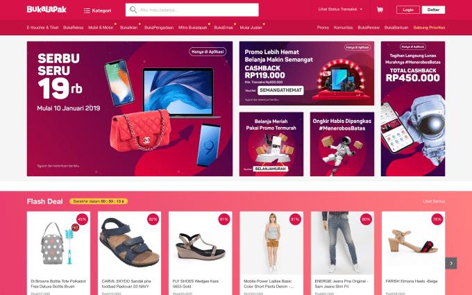 Indonesian e-commerce unicorn Bukalapak raises $50M
